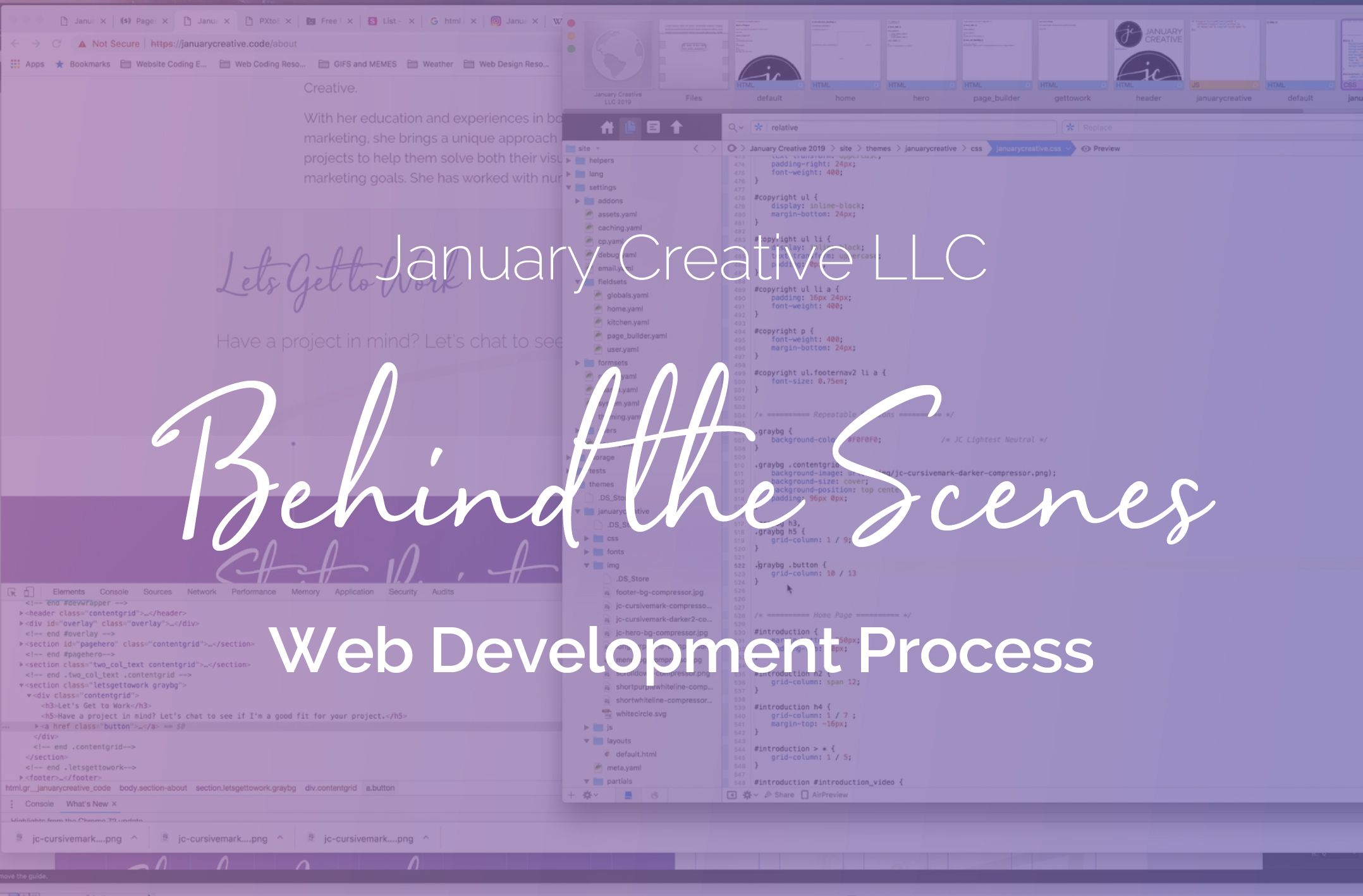 Behind the scenes of the web development process for January